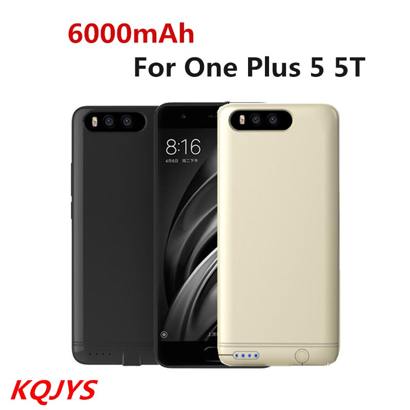 KQJYS 6000mAh Battery  Case Power Plus For Oneplus 5  Power Bank  Backup Battery Case Charger For OnePlus  5T