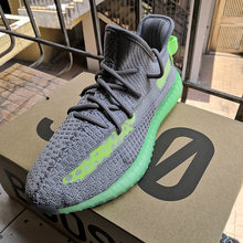 HKSZ Gray Green 350 Shoes 1:1 Copy with logo yeezys air 350 boost rubber sneakers 12 men shoes yeezys air 350 boost v2 sneaker(China)