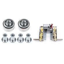 1 set Rc Tank Parts Plastic Gear Box & 2Pcs for Wpl Rc Car Wheel Front Connector + 4Pcs Rear Connector(China)
