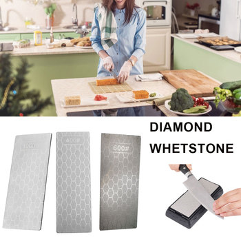 Diamond Knife Sharpening Stone 400# 1000# 600# Knife Sharpener Ultra-thin Honeycomb Surface Whetstone Grindstone Cutter Tool Set image