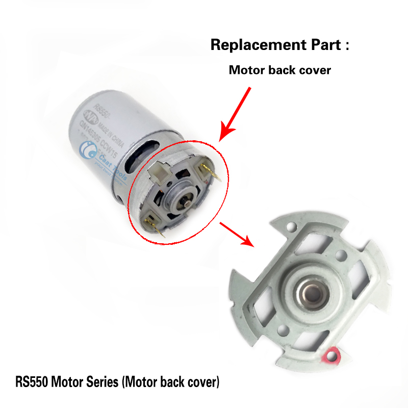 Repair RS550 Motor Back Cover module replace for RS 550 RS-550 BOSCH MAKITA DEWALT HITACHI METABO Milwaukee WORX Hilti Ryobi image