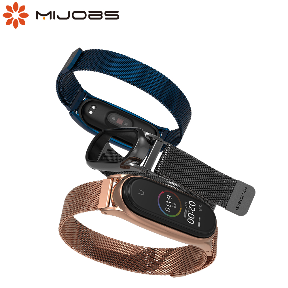 For Mi Band 4 Strap For Xiaomi Mi Band 3 Strap Magnetic Metal Bracelet For Mi Band 4 Smart Global Version Wristbands All In One