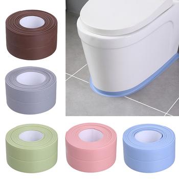 3 2m łazienka kuchnia prysznic wodoodporny mold Proof taśma zlew wanna taśma uszczelniająca taśma samoprzylepna wodoodporna samoprzylepna naklejka tanie i dobre opinie CN (pochodzenie) Hydraulika HG182932 Żarnik Taśmy Self-Adhesive Sealing Tape 6colors optional seam crossing between sink and table wall and table
