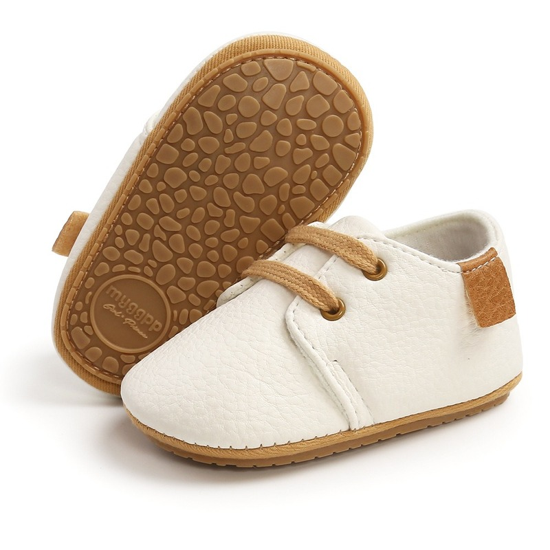 Luxury Soft Leather Baby Moccasins Shoes Newborn Rubber Sole First Walkers Boys Toddler Shoes Infant Girls Anti-slip Prewalkers 6