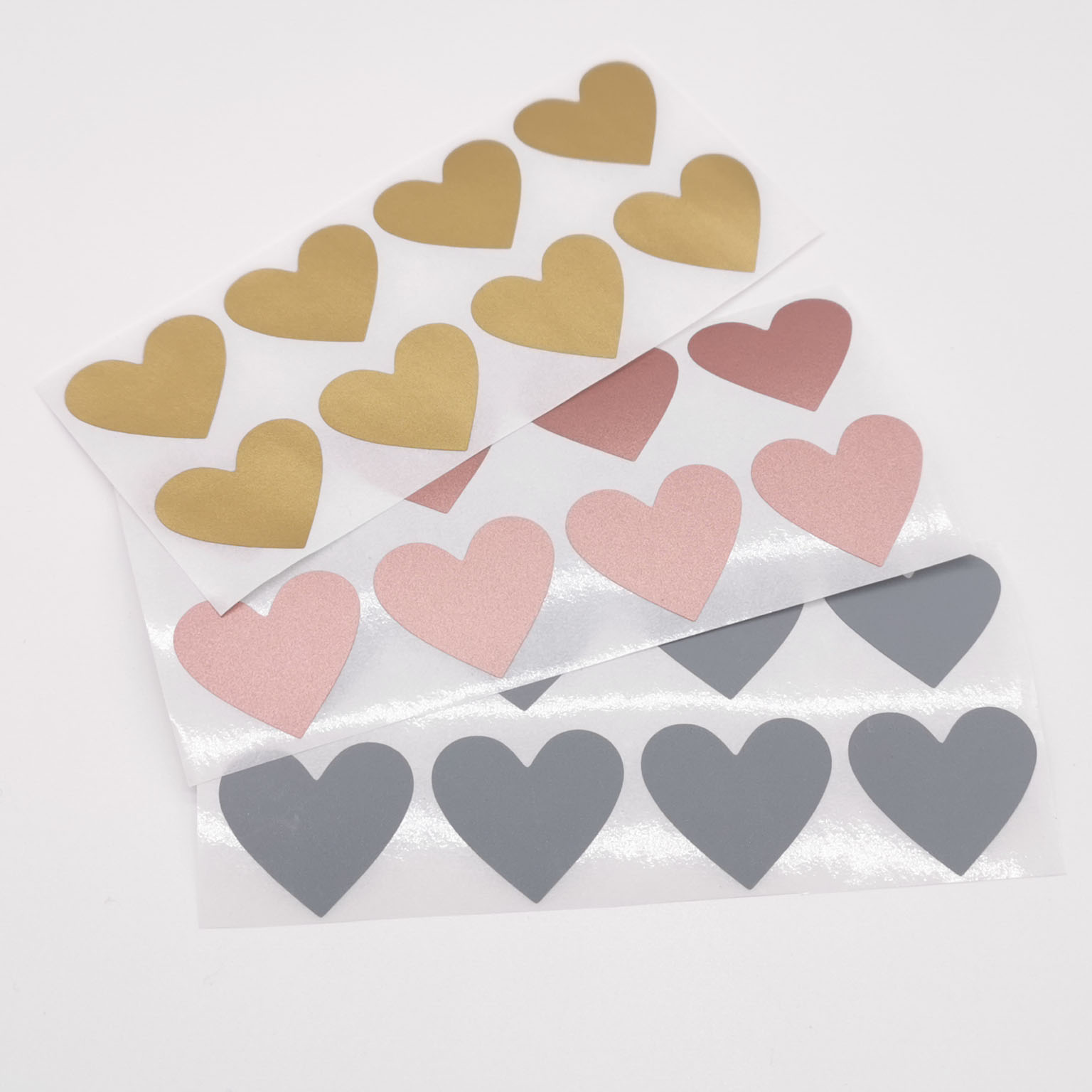 100pcs Heart Shaped Rose Gold Scratch Off Stickers Silver Labels Sticker For Party Activity Game Favors Stationery Sticker