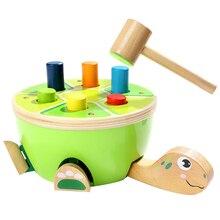 Деревянные игрушки для малышей, Обучающие мелкую моторику-дошкольные деревянные игрушки, удары и удары, игрушки-подарки для девочки 2 лет