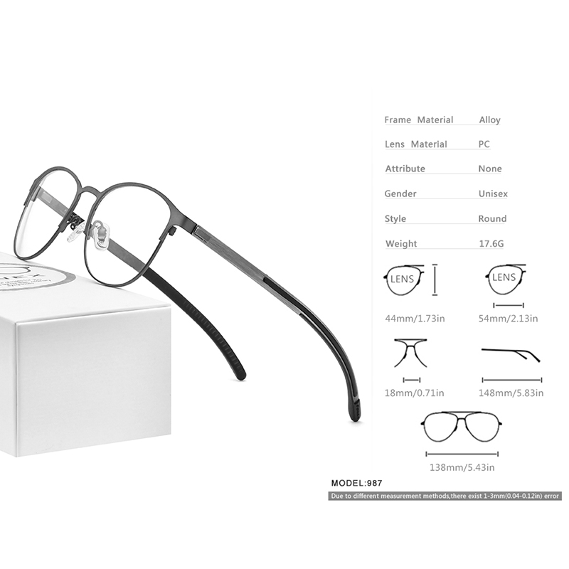 Image 3 - FONEX Silicone Alloy Optical Eye Glasses Frames for Women Round Myopia Prescription Eyeglasses Men 2020 Screwless Eyewear 987Mens Eyewear Frames   -