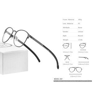 Image 3 - FONEX Silicone Alloy Optical Eye Glasses Frames for Women Round Myopia Prescription Eyeglasses Men 2020 Screwless Eyewear 987