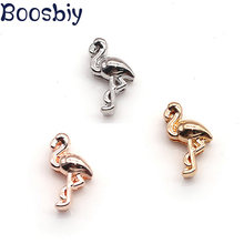 Boosbiy Lovely Animal Slider Bird Slide Charms for Leather Wrap Mesh Keeper Bracelets Handmade Pandora Jewelry Making(China)