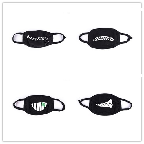 Cute Anime Cartoon Face Mask Mouth Muffle Unisex Style Cover Cycling Anti Dust Cotton Face Protective Cover Masks
