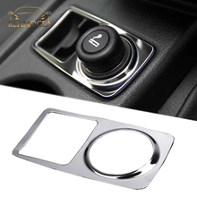 Reamocea 1Pc Stainless Steel Car Cigarette Lighter Decoration Paillette Cover Trim Fit for Ford Focus 2011 2012 2013 2014