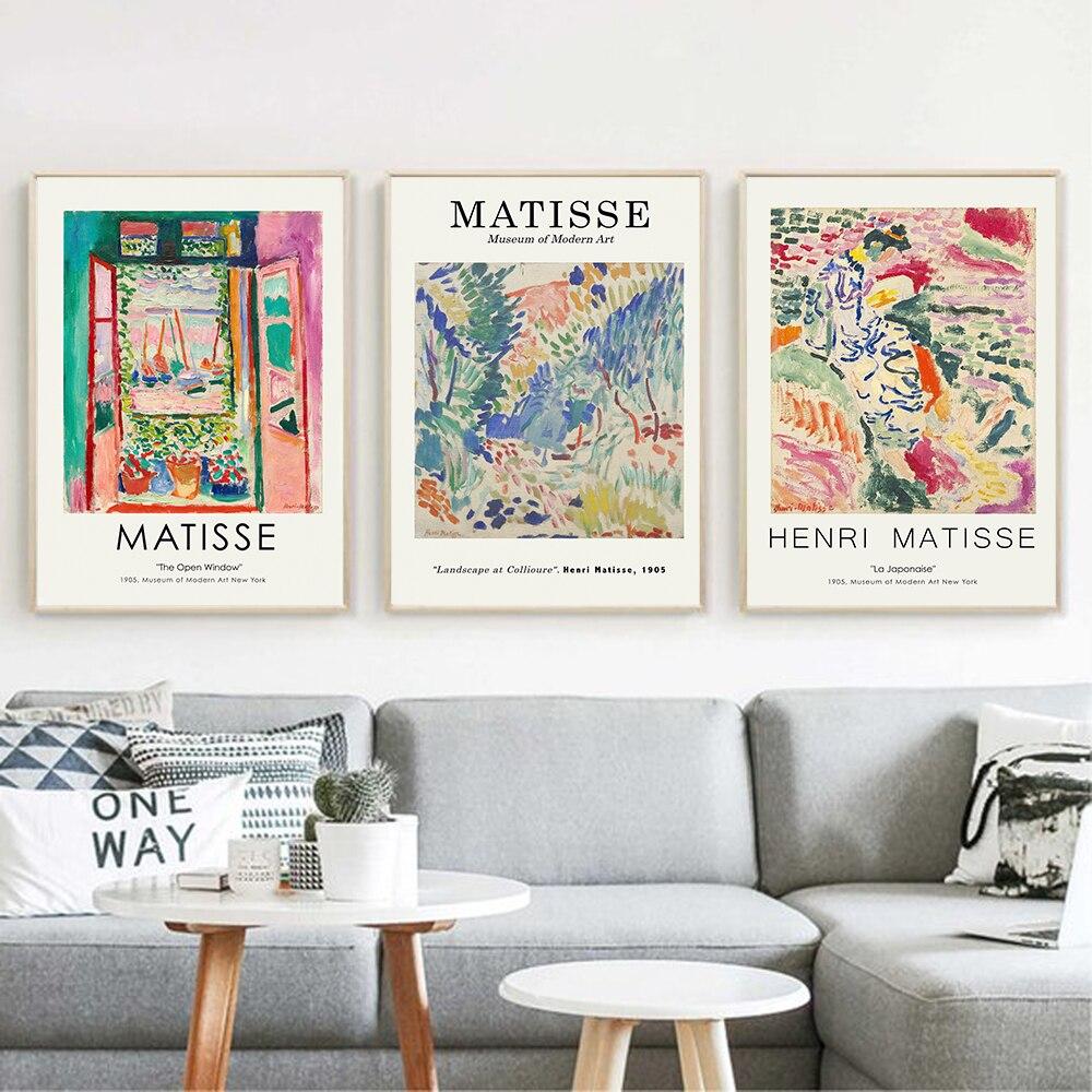 Pósteres e impresiones Retro de Henry Matisse, arte abstracto de la pared del paisaje, cuadros de lienzo Vintage para la decoración del hogar de la sala de estar