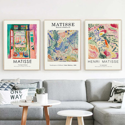 Henri Matisse Retro Posters And Prints Abstract Landscape Wall Art Vintage Canvas Painting Pictures For Living Room Home Decor