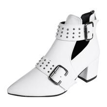 SAGACE buty damskie buty damskie damskie Vintage buty do kostki damskie rzym Pointed Toe Casual pojedyncze buty krótkie buty kobieta nit tanie tanio ANKLE Stałe Shoes Plac heel Podstawowe Okrągły nosek Zima RUBBER Med (3 cm-5 cm) 3-5 cm Pasuje prawda na wymiar weź swój normalny rozmiar