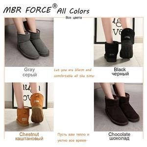 Image 5 - MBR FORCEคุณภาพสูงออสเตรเลียยี่ห้อผู้หญิงฤดูหนาวหิมะรองเท้าวัวแยกหนังข้อเท้ารองเท้าผู้หญิงBotas Mujerขนาดใหญ่US 3 13