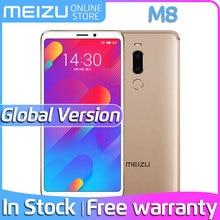 Глобальная версия, Meizu M8 V8, 4 ГБ, 64 ГБ rom, мобильный телефон MTK Helio P22, четыре ядра, 5,7 дюймов, 18:9, полный экран, разблокировка отпечатков пальцев
