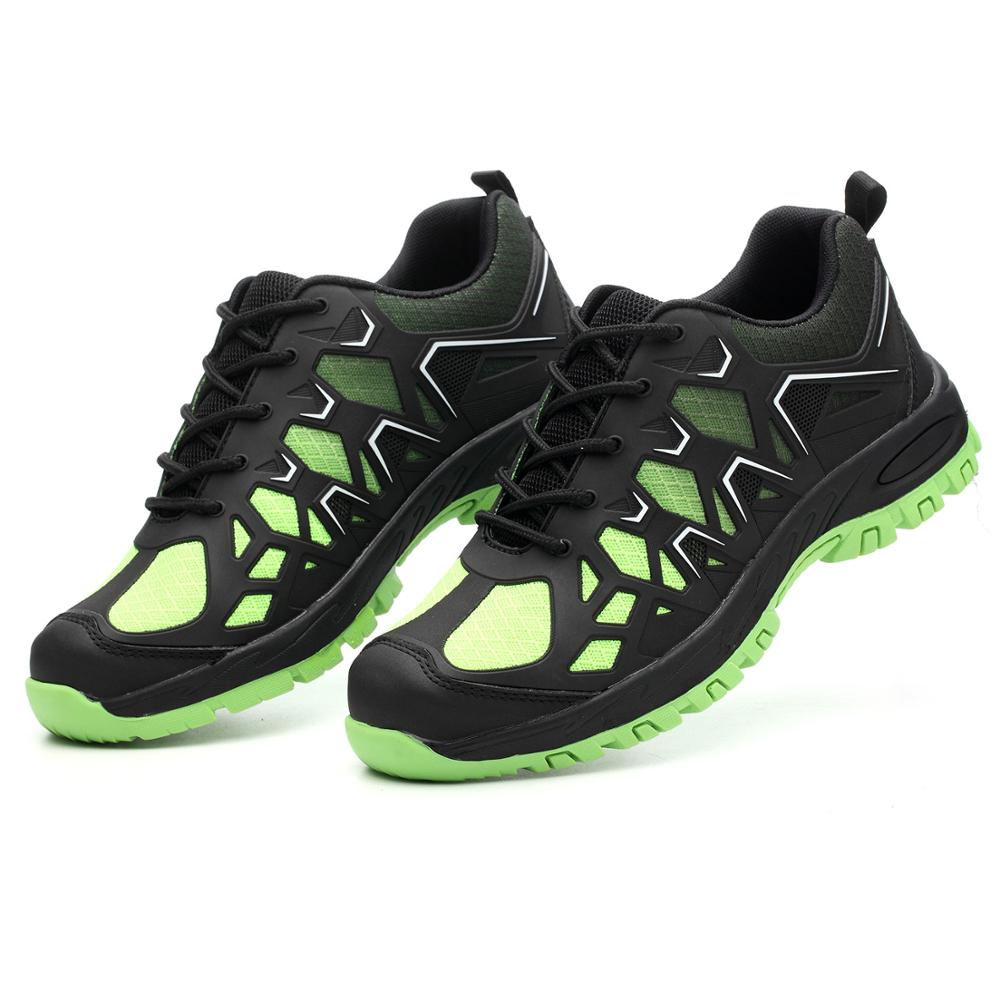 NASONBERG Lightweight safety shoes men shoes steel toe Anti crush work breathable sneakers wear resistance work shoes in Work Safety Boots from Shoes