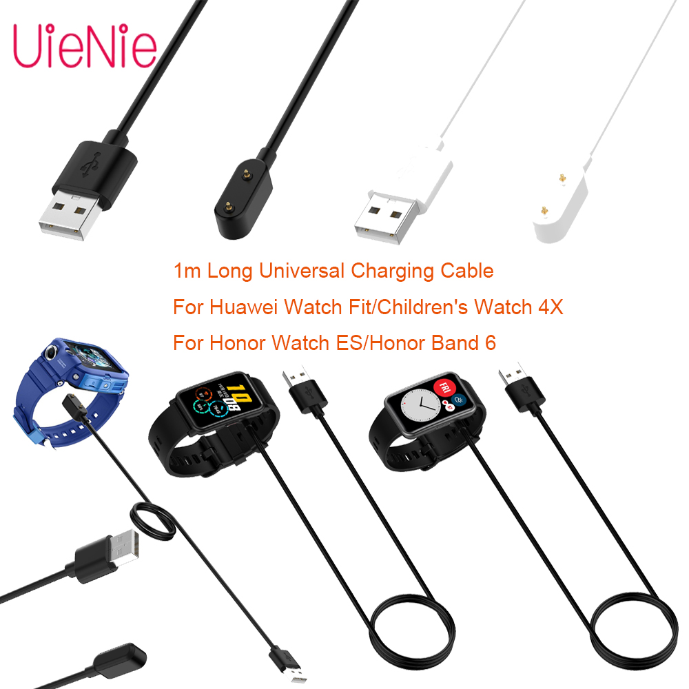 1m USB Fast Charging Cable For Huawei Watch Fit/Children's Watch 4X Charging Cable For Honor Watch ES/Huawei Band 6 WatchCharger