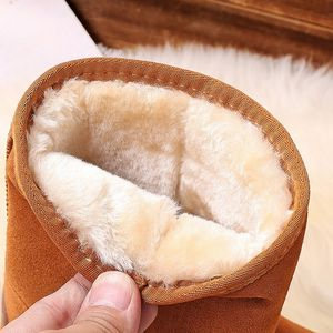 Image 5 - Genuine Leather cowhide Womens Snow Boots 2020 New winter Plush Fur Warm Shoes lady casual winter leather cotton boots 35 40