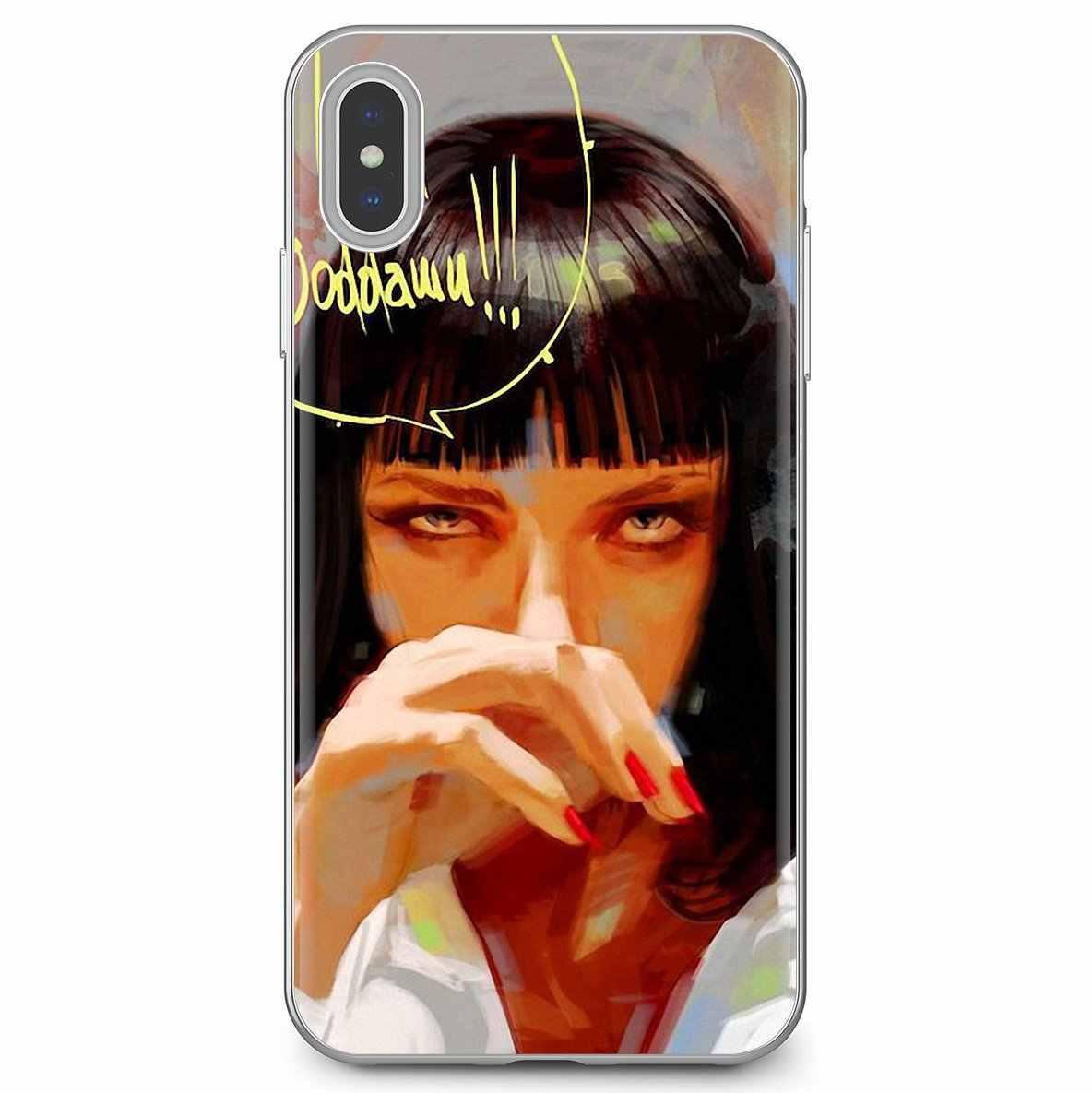 Mia wallace Pulp Fiction Für Huawei G7 G8 P7 P8 P9 P10 P20 P30 Lite Mini Pro P Smart 2017 2018 2019 Designer Silikon Telefon Fall