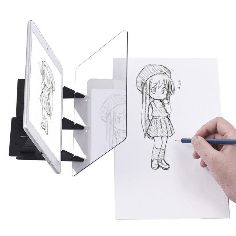 2019 Optical Kid Drawing Panel Tracing Board Copy Pad Crafts Portable Zero-based Painting Mould Anime Sketch Art Tool Toy Gift