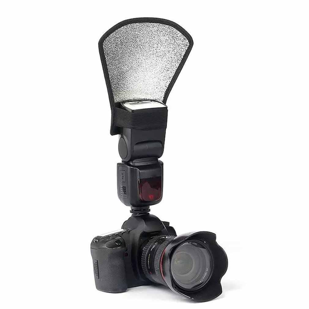 Universel caméra Flash diffuseur Softbox argent & blanc réflecteur reflex appareil photo photographie Studio accessoires