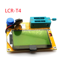 Mega328 M328 LCR T4 12846 LCD الرقمية الترانزستور تستر متر الخلفية صمام ثنائي ثلاثي المسار السعة ESR متر MOS/PNP/NPN L/C/R