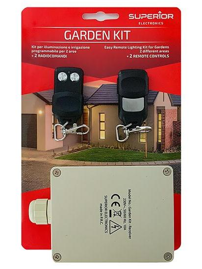 ECU Kit + 2 Controls To To Garage Door-Garden AND Outdoor 433,92 MHz 2 Channels Gardenkit Compatible With 433.9