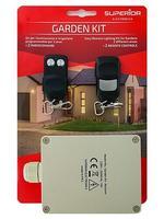ECU Kit + 2 Controls To To garage door Garden AND Outdoor 433 92 MHz 2 Channels Gardenkit compatible with 433.9 Door Remote Control     -
