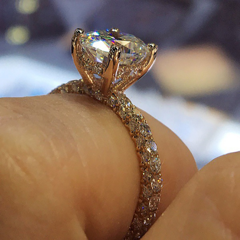 2019 New Women Fashion Charm Full Zircon Crystal Engagement Rings Fashion Ladies Love Anniversary Ring Accessory CE0764/5