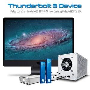 Image 5 - Thunderbolt 3 kabel 40 gb/s PD 5A 100W szybkie ładowanie USB C do C DisplayPort 4K 5K HD dla macbook Pro Air iMac USB C przewód ładowarki