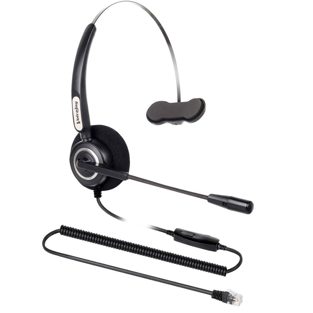 US $24.9 |Zestaw słuchawkowy Volume + Mute switch office z wtyczką RJ9 call center słuchawki z mikrofonem redukcja szumów zestaw słuchawkowy