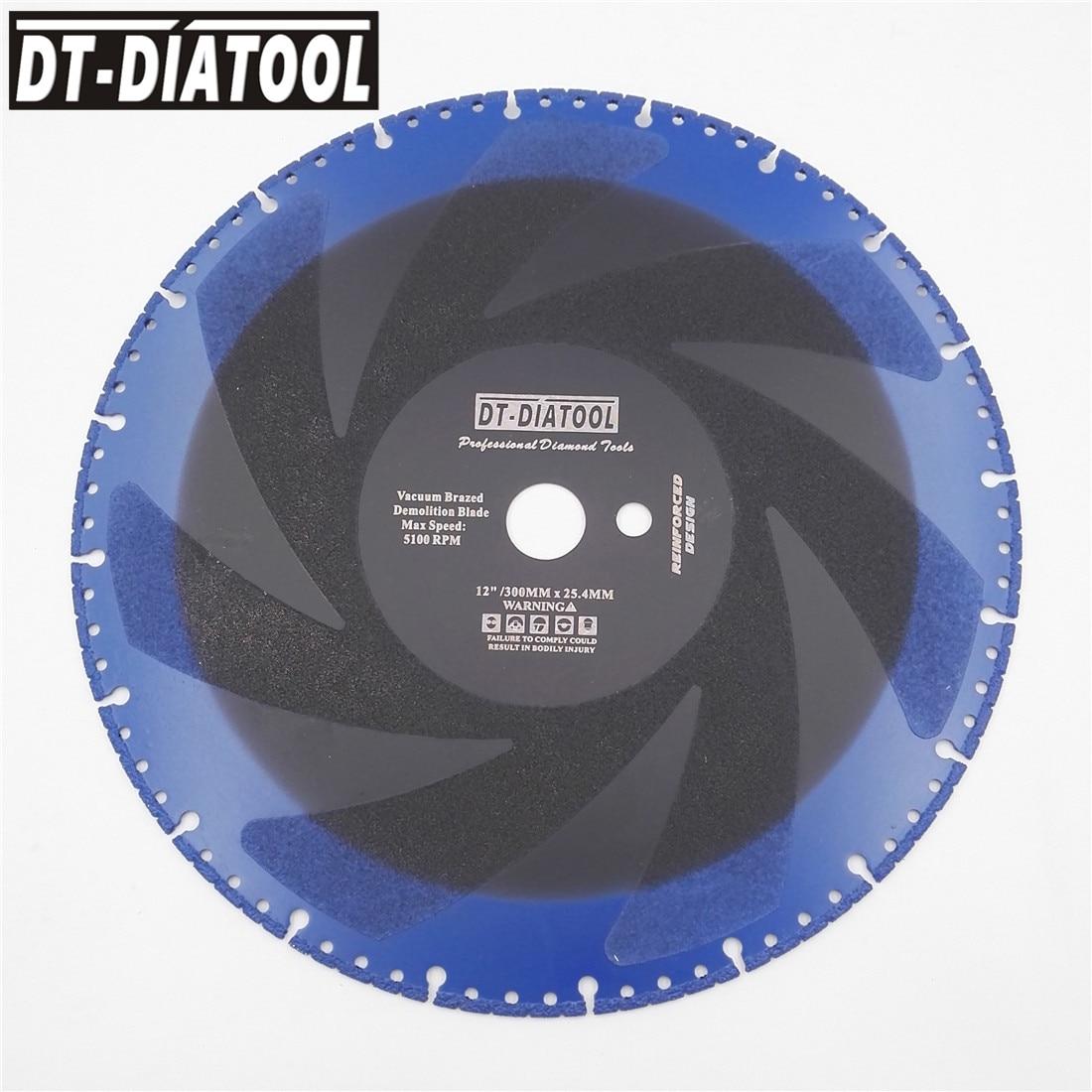 DT-DIATOOL 1pc Dia300/350/400mm Vacuum Brazed Diamond Demolition Saw Blade Multi Purpose Rescue Blade Metal Plastic Cutting Disc