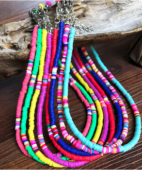 4 mm African Vinyl Bead Necklace Jewelry Necklaces f02846ee759da375bf7e2a: Colorful|dark blue|green|light blue|Pink|purple|red|yellow