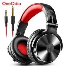 Oneodio profesyonel DJ kulaklıklar aşırı kulak stüdyo monitör DJ kulaklık mikrofon ile HIFI kablolu bas oyun kulaklığı telefon için