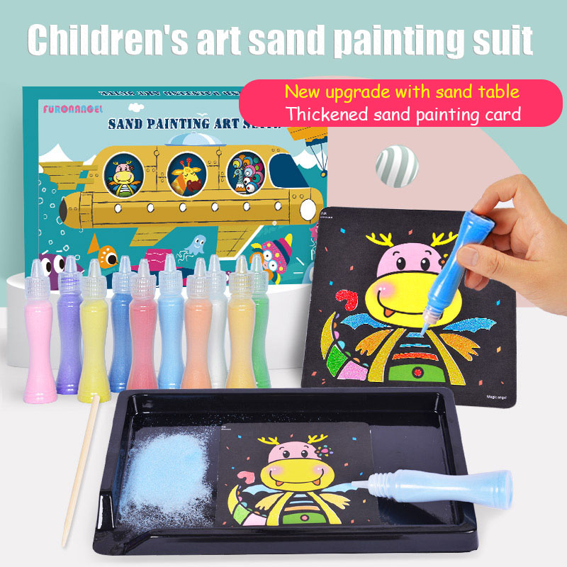 Lotus Angel Sand Painting Children's Color Sand Boys And Girls DIY Hand Painting Toy Sand Painting Suit Upgrade With Sand Table