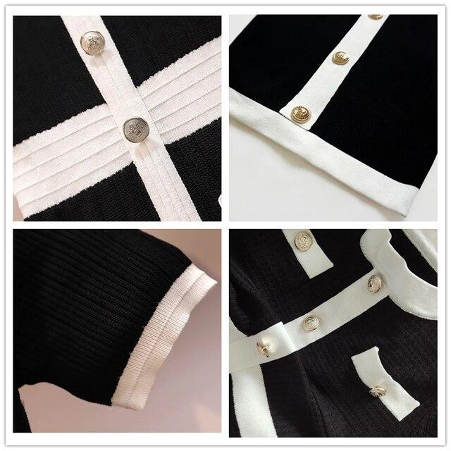 Sweater Dress Women Plus Size Sexy Elegant Vestidos Black Short Sleeve Korean Style Knitting Dresses 2020 Autumn Woman Clothes 6