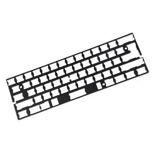 Image 1 - Универсальная анодированная алюминиевая пластина позиционирования, поддержка ISO ANSI для клавиатуры GH60 PCB 60% DIY, Бесплатная доставка