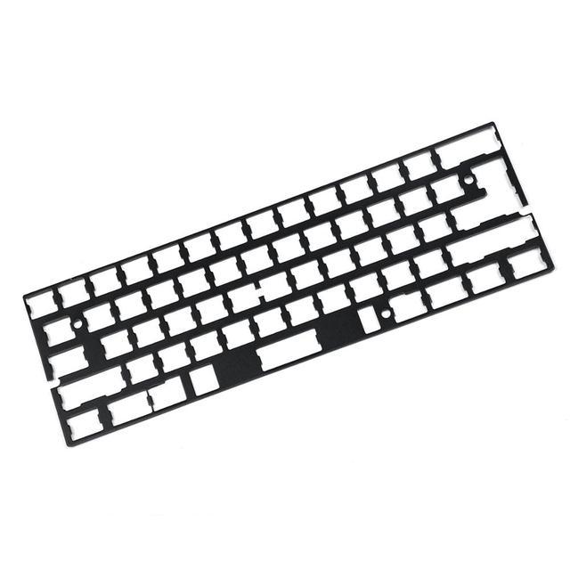 אוניברסלי Anodized אלומיניום מיצוב לוח צלחת תמיכה ISO ANSI עבור GH60 PCB 60% מקלדת DIY משלוח חינם