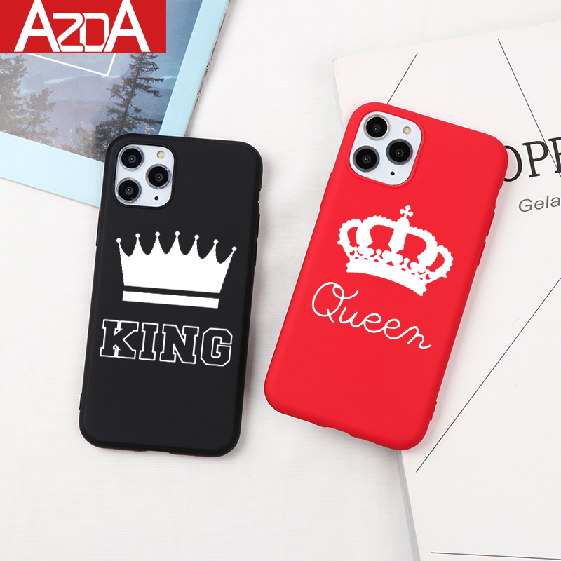 King Queen Matte Capa Soft TPU <font><b>Case</b></font> For <font><b>iPhone</b></font> 11 Pro Max XR X 6 <font><b>6S</b></font> S 7 8 <font><b>Plus</b></font> 5 5S SE XS Max Phone <font><b>Case</b></font> Back Cover Fundas Coque image