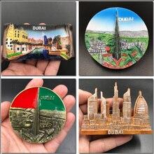 Dubai Fridge sticker united Arab emirates Panoramic 3D refrigerator stickers resin magnetic tourism souvenirs crafts gifts academics knowledge sharing behaviour in united arab emirates