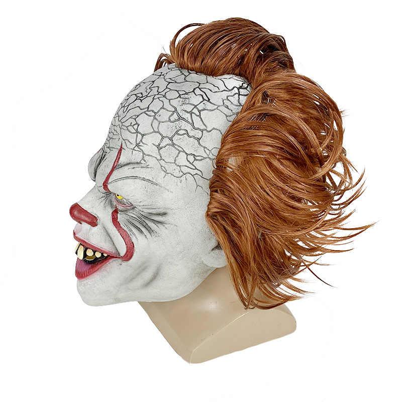 2019 nova Stephen King é Pennywise Máscara De Látex Halloween Máscara Assustadora Máscara de Cosplay Do Partido Do Palhaço Máscara Prop Halloween Palhaço Assustador