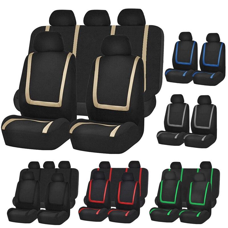 Универсальный чехол для автомобильных сидений полиэстер ткань защищает сиденье автомобиля аксессуары интерьера для девочек человек Лада Киа renault Ford Suzuki|Чехлы на автомобильные сиденья|   | АлиЭкспресс