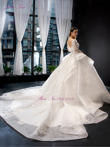 Image 5 - Julia Kui High end Vintage Puffy Skirt Of Ball Gown Wedding Dresses With Long Sleeve Beauty Bridal Gowns Robe de Mariage