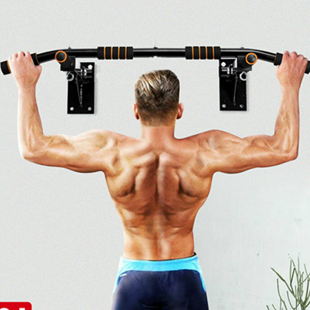 Fitness Indoor Wall Horizontal Bar Pull-up Horizontal Bar Home Gym Fitness Equipment Workout Chin Up Training Bar Sport 93x18cm