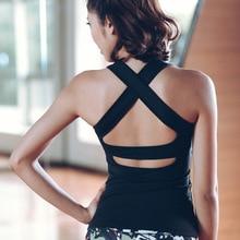 PENERAN joga Sport Top Fitness kobiety 2020 trening siłownia Top kobiety koszulka sportowa bez pleców Top damska koszulka sportowa czarny biały S L