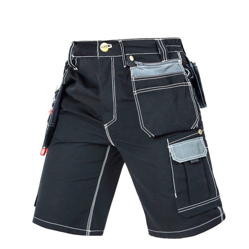 Top Brand Mens Cargo Pocket Short Pants Knee Length Overall Cotton Trousers Security Working Pants For Man Casual Shorts XS-3XL
