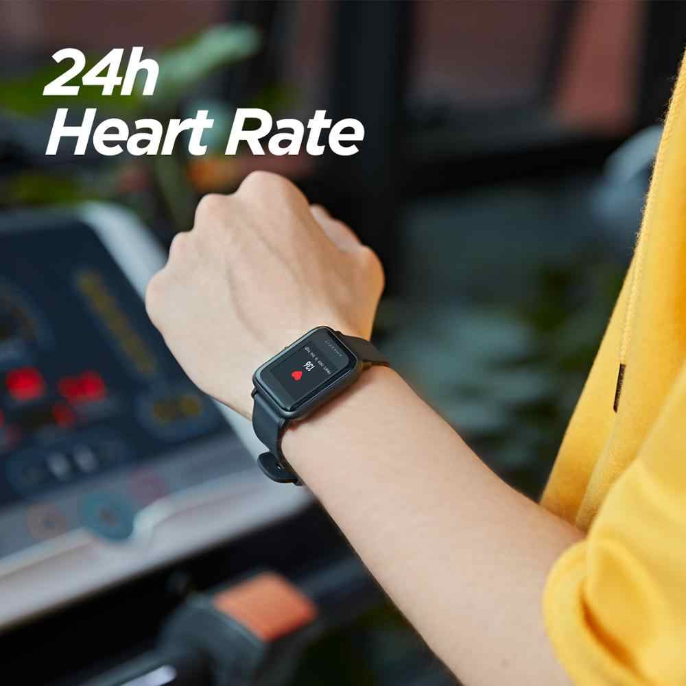 Amazfit Huami ביפ לייט 2 מקורי חכם שעון GPS 45 ימים ארוך סוללה Gloness לב קצב HUAMI Smartwatch גלובלי גרסה