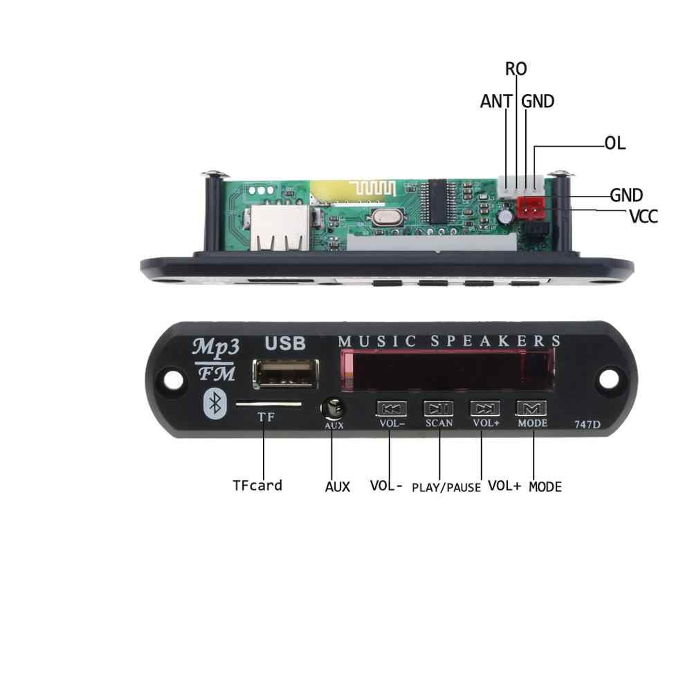 Kebidu Автомобильный MP3 декодер плата bluetooth Автомобильный MP3 Усилитель 5 в 12 В USB FM TF радио аудио модуль музыкальный динамик с пультом дистанционного управления