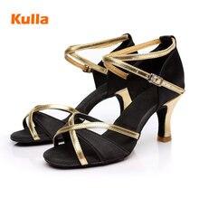 Dance-Shoes Latin High-Heeled Ballroom Soft-Sole Woman's-Salsa Professional Ladies New